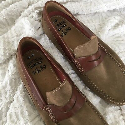72936a96e7e Florsheim 13296-253 Oval Penny Driver Men s Loafer Suede Leather 11M Slip On