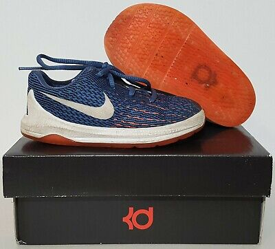 26ddb5b3b7b9 NIKE KEVIN DURANT KD 8 Infant Baby Boys Blue black orange Crib Shoes ...