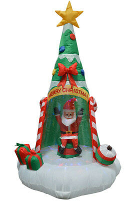 Christmas Tree Inflatables.Impact Canopy Christmas Decorations Outdoor Inflatables Santa Christmas Tree 6ft