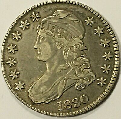 1830 Capped Bust Half Dollar, Nicely Toned