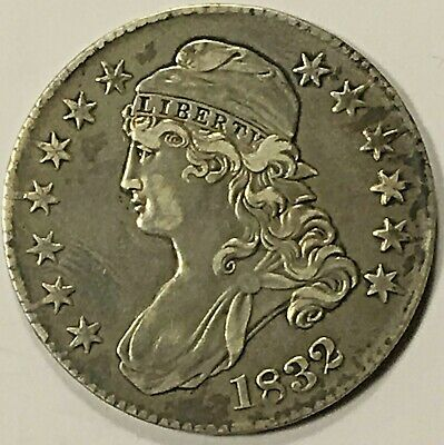 1832 Capped Bust Half Dollar, Light Toning