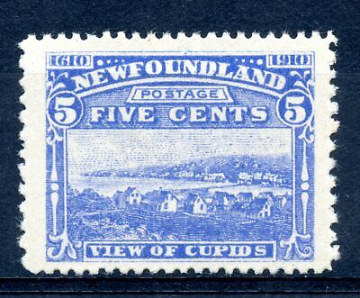 Weeda Newfoundland 91 VF MNH 5c ultra 1910 John Guy issue CV $120