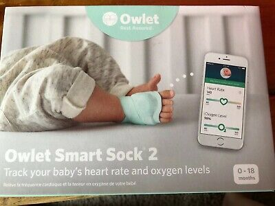 Owlet Smart Sock 2 Baby Monitor for Heart Rate and Oxygen Levels in Box