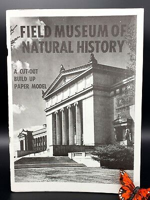 Chicago Field Museum of Natural History Cut Out Paper Model Book VINTAGE 1973 UC