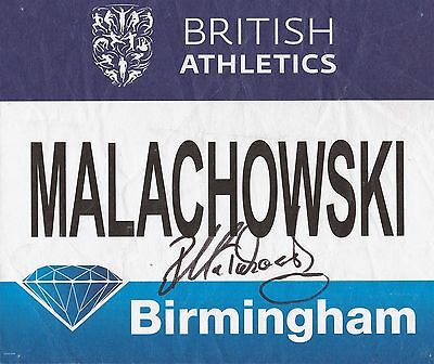 Athletics: Piotr Malachowski Signed Birmingham Diamond League 2016 Worn Bib+Coa