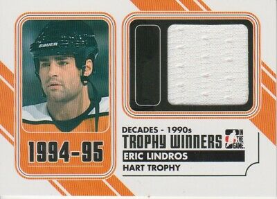 2013-14 ITG Decades 1990s Trophy Winners Jerseys Black #TW10 Eric Lindros