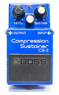 Boss CS-2 Compression Sustainer Made in Japan MIJ Guitar Effect Pedal