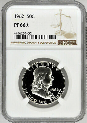 1962 50c Silver Proof Franklin Half Dollar NGC PF 66 Star