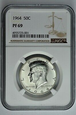 1964 50c Silver Proof Kennedy Half Dollar NGC PF 69