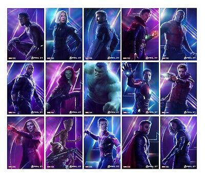AVENGERS INFINITY WAR CHARACTORS Movie A3 A4 POSTER PRINT Odeon BUY 1 GET 2 FREE