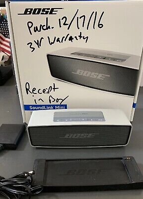 Bose SoundLink Mini Bluetooth Speaker - Silver WITH WARRANTY Excellent Condition