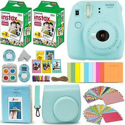 Fujifilm Instax Mini 9 Instant Camera ICE Blue + Fuji INSTAX Film KIT