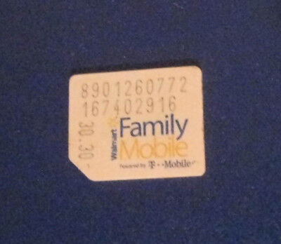 FAMILY MOBILE MICRO size SIM Card No Service for Test/Bypass only