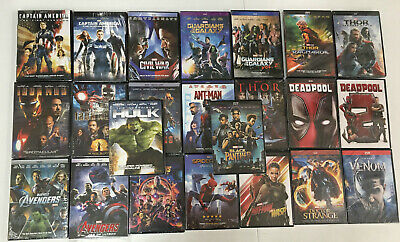 23 Marvel DVD Lot Movie Avengers 123 Venom Hulk Ant-man and the Wasp Thor 123