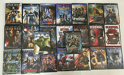 24 Marvel DVD Lot Movie Iron Man 12 3 Avengers 123 Ant-man Thor 123 collection