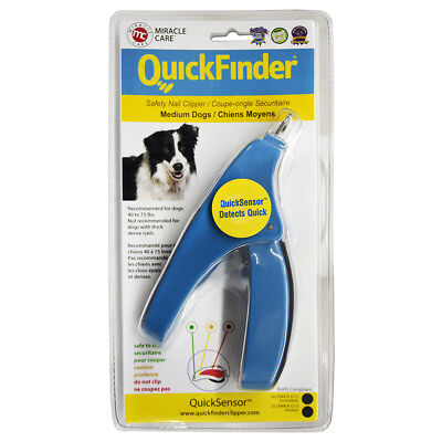 Miracle Care QuickFinder Safety Nail Clipper Medium Dogs 40 - 75lbs 3478