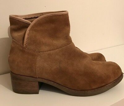UGG Darling Chestnut Suede Leather Ankle Boot Womens UK Size 5.5