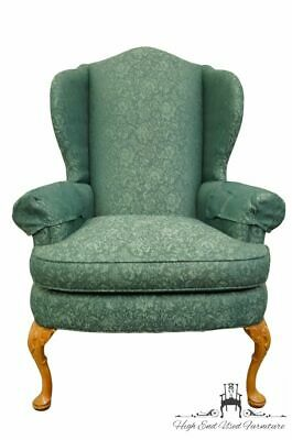 PENNSYLVANIA HOUSE Advantage Green / Teal Upholstered Wingback Arm Chair