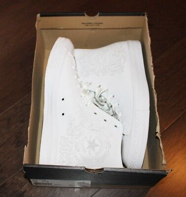 NEW Converse CTAS Limited Edition White Out Men 8.5 Hi Top Sneakers LOS ANGELES