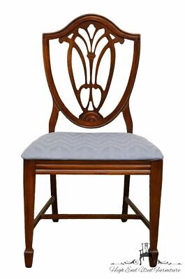 1960's Antique Vintage Solid Cherry Duncan Phyfe Shield Back Dining Side Chair