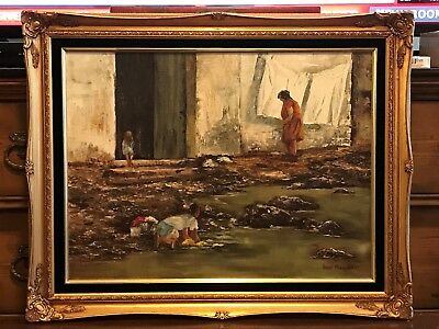 INGE MOSSHART (20th C. W. GERMANY PAINTER) OIL ON CANVAS