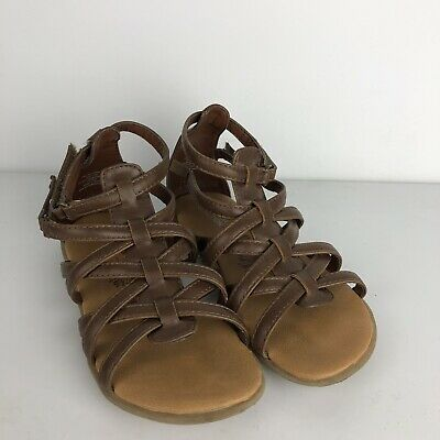 b10316d6f263 Kenneth Cole Reaction Girls Gladiator Sandals Size 11 M Brown