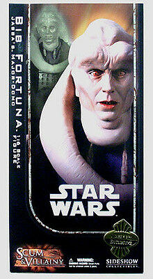 "SIDESHOW COLLECTIBLES_Star Wars_BIB FORTUNA 12"" figure_Exclusive Limited Edition"
