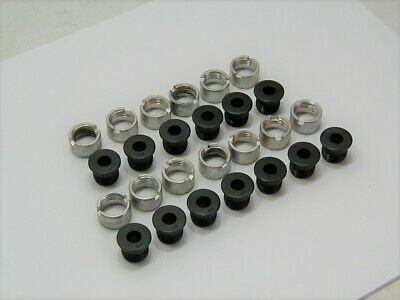 (13) 1/4 ID Threaded Template Drill Bushing with Flanged Head & Lock Collars