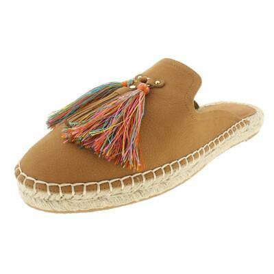 Nine West Womens Val Leather Tassel Slide Mules Flats BHFO 8944