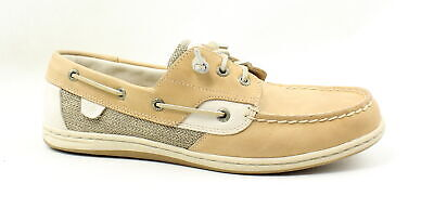 Sperry Top Sider Womens Songfish Linen Oat Boat Shoes Size
