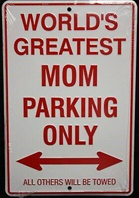 "Worlds Greatest Grandma Parking Only 8/"" x12/"" Aluminum Sign Wall Tag FAST US SHIP"