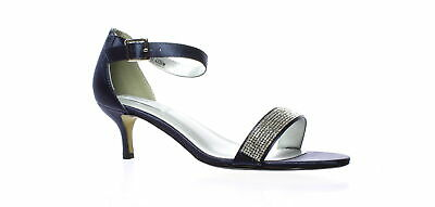 132f27b07f6a Touch Ups Womens Isadora Navy Ankle Strap Heels Size 8.5 (210051)