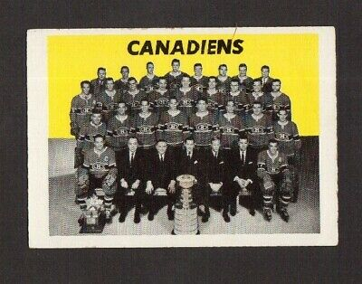 Montreal Canadiens Stanley Cup Team 1965-66 Topps Hockey Card #126 EX
