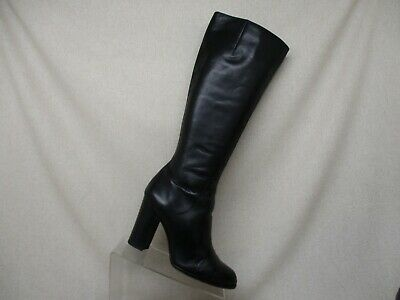 fb0a5abcd89 Sam Edelman Black Leather Side Zip Knee High Fashion Riding Boots Size 10