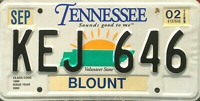 USA Number Licence Plate TENNESSEE SOUNDS GOOD TO ME