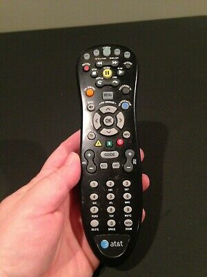 QTY LOT OF 2: Uverse AT&T BLACK REMOTE CONTROL! WORKS WITH