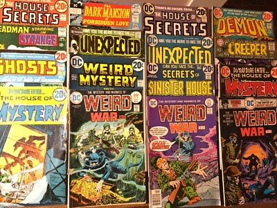 LOT of 16 Bronze Age DC HORROR Comics House of Secrets Weird Mystery Unexpected