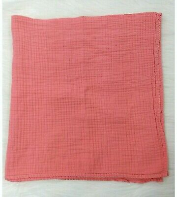 Summer Infant Swaddle Me Muslin Baby Blanket Security Coral B73