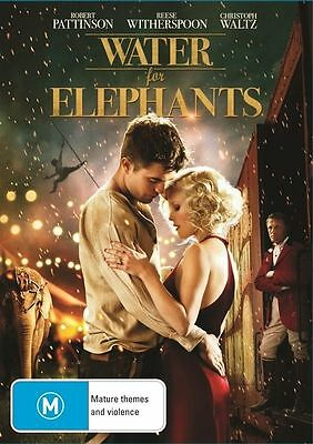 Water For Elephants (DVD, 2011)  Reese Witherspoon NEW AND SEALED REGION 4 DVD