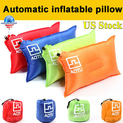 Travel Outdoor Inflatable Pillow Comfortable Cushion Protect Head Neck Camping