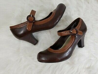 e233965b6ec Madden Girl Mary Jane Pumps Size 7 Two Tone Brown Chunky Heels Eastern Used  Shoe