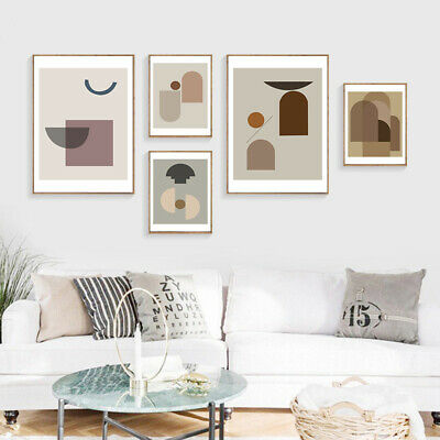 Abstract Canvas Poster Geometric Nordic Wall Art Print Minimalist Home Decor