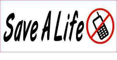 3.5 X 1.5 Save A Life Cell Phone Sticker Vinyl Stickers Vehicle Car Bumper Decal