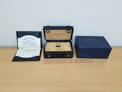 FRANCK MULLER - BLACK ALLIGATOR LEATHER WATCH BOX with Certificate