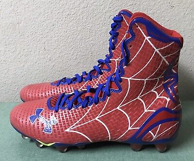 13ea8495308 Under Armour UA Highlight MC Alter Ego Spiderman Mens Sz 11 Football LAX  Cleats