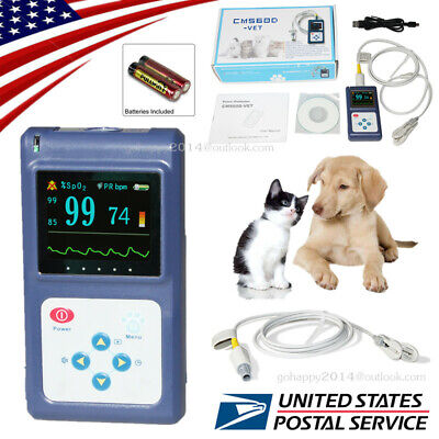 USA Vet Veterinary Pulse Oximeter SpO2 pulse rate animal's tongue/ear probe FDA