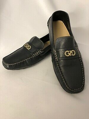 9255155a0e5 Cole Haan SHELBY CH LOGO Drivers Loafers Womens Black Leather Size 10B