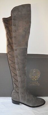 828cce5a651 New  200 Vince Camuto Coatia Graystone True Suede Stretch Over the Knee  Boots