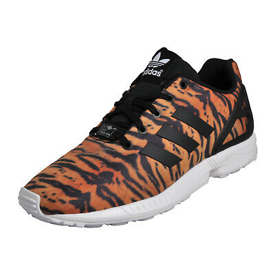 983b4f96b7ad7 Adidas Originals ZX Flux Kids Uni Classic Casual Animal Print Trainers