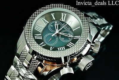 Invicta 50mm Bolt Gen III Swiss Chrono Mother Of Pearl Dial High Polish SS Watch